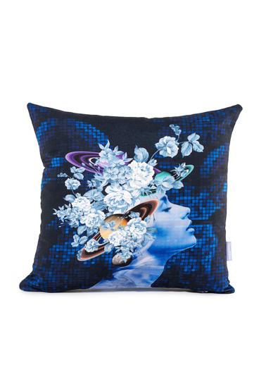 Firuze Home&Bath 2'li Kırlent Flowers Of Universe Renkli